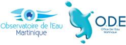 Logos de l'office et l'observatoire de l'eau en martinique